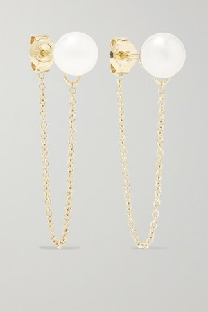 Mateo | 14-karat gold pearl earrings | NET-A-PORTER.COM