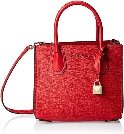 Michael Kors Mercer Pebbled Leather Accordion Crossbody Women's Cross-Body Bag