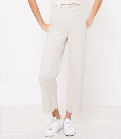 The Petite High Waist Wide Leg Jean | LOFT