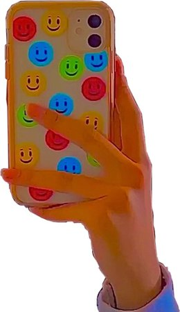 indie kid core aesthetic phone case smile smiley faces multicolor rainbow