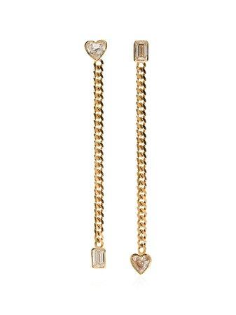 Mindi Mond 18Kt Gold Fancy Cut Chain Earrings CE0024 Metallic | Farfetch