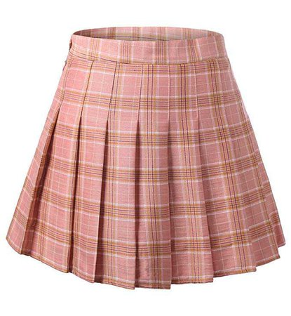 Amazon.com: DJT FASHION Women's High Waist Tartan Pleated School Skirt Large Pink Plaid: Clothing