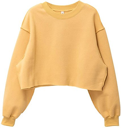 Amazon.com: Women Pullover Cropped Hoodies Long Sleeves Sweatshirts Casual Crop Tops for Spring Autumn Winter: Clothing