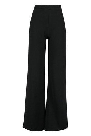 Wide Leg Trouser | Boohoo black