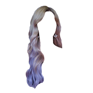 Gray Purple Hair PNG