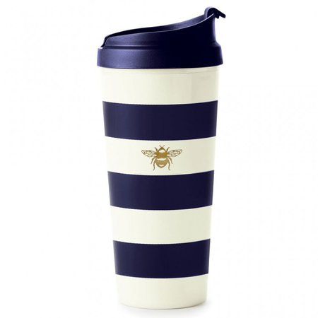 Kate Spade New York Navy Stripe Thermal Travel Mug | Temptation Gifts