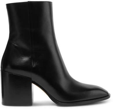 aeydē - Leandra Leather Ankle Boots - Black
