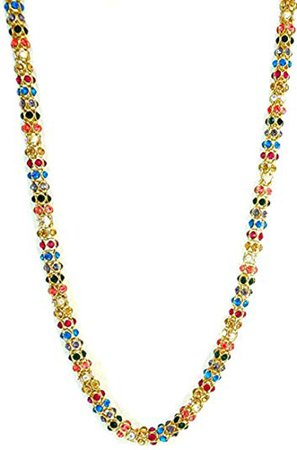 Betsey Johnson Multi Color Gold Necklace: Clothing