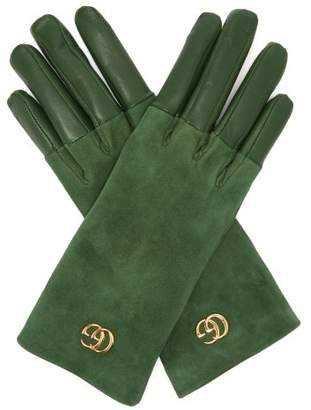 green gucci dark gloves forest leather gg gq