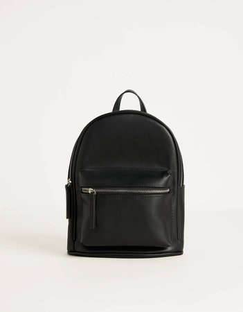 Faux leather backpack - Best Sellers - Woman | Bershka black
