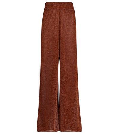 Oséree - Pantalones anchos Lumière tiro alto | Mytheresa