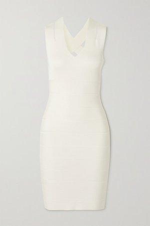 Open-back Bandage Mini Dress - White