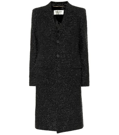 Textured Metallic Chesterfield Coat - Saint Laurent | mytheresa.com
