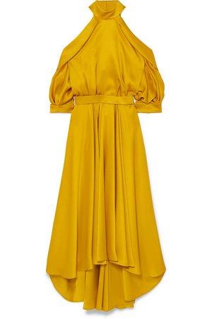 Ralph & Russo | Cold-shoulder silk-satin dress | NET-A-PORTER.COM