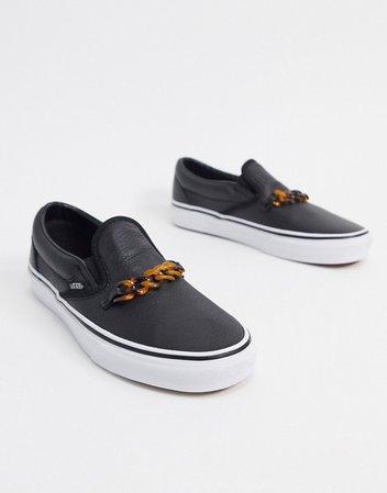 Vans Slip-On Chain sneaker in black | ASOS