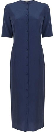 URUN - Urun Button Down Dress In Navy Blue