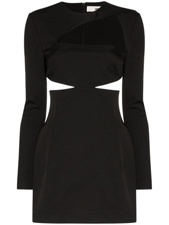 Black 032C Cosmic Workshop Cutout Mini Dress | Farfetch.com