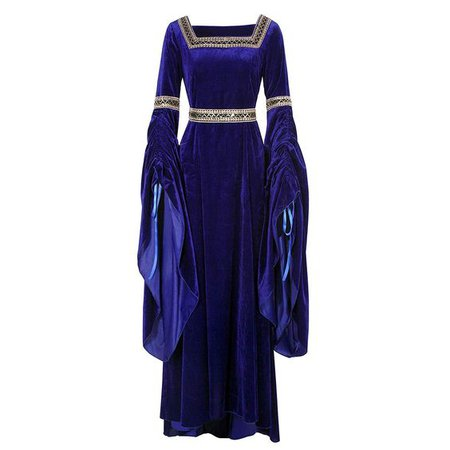 Royal Blue Medieval Gown