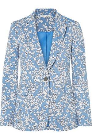 Alice + Olivia Macey cotton-blend jacquard blazer