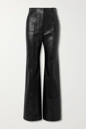Black Paneled leather wide-leg pants | Gucci | NET-A-PORTER