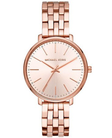 Michael Kors Women's Pyper Rose Gold-Tone Stainless Steel Bracelet Watch 38mm & Reviews - Watches - Jewelry & Watches - Macy's