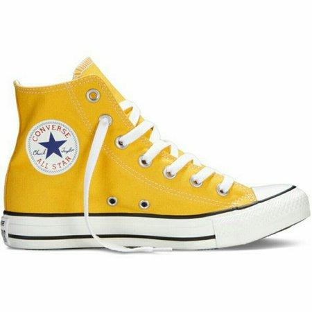 Yellow Converse High Tops