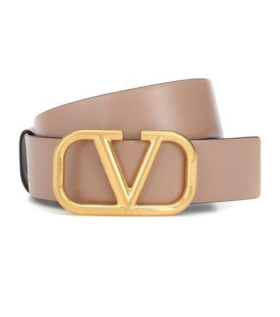 Valentino Garavani Vlogo Leather Belt | Valentino - Mytheresa