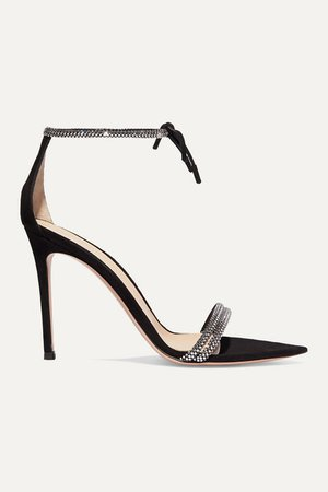 Camnero 105 Crystal-embellished Suede Sandals - Black