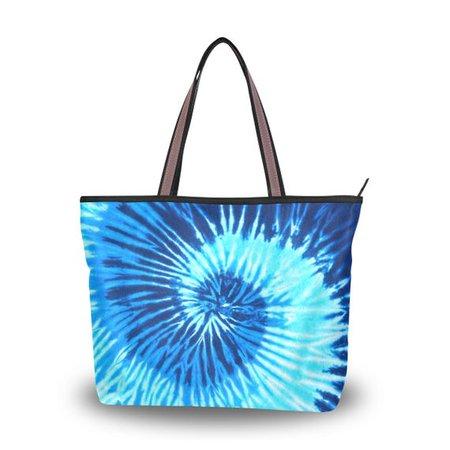 Spiral Blue Tie Dye Women's Totes Tie Dye Purse Top | Etsy