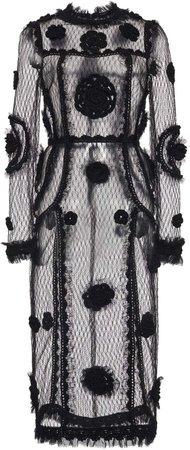 Dolce & Gabbana Embellished Sheer Dress