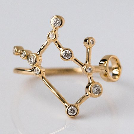 local eclectic | 14K Gold Gemini Ring with Diamonds