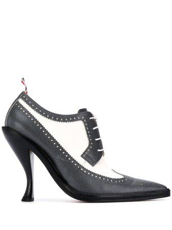 Thom Browne curved heel brogue pumps - FARFETCH