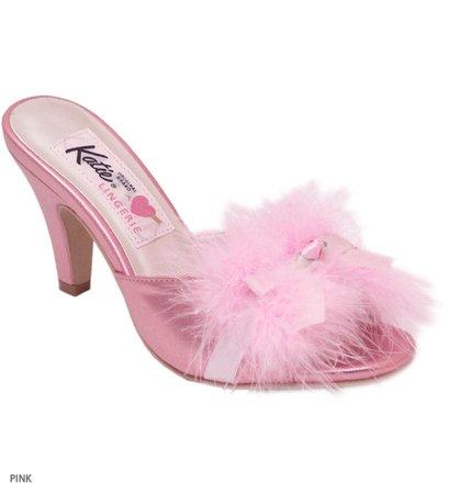 feathery pink heel