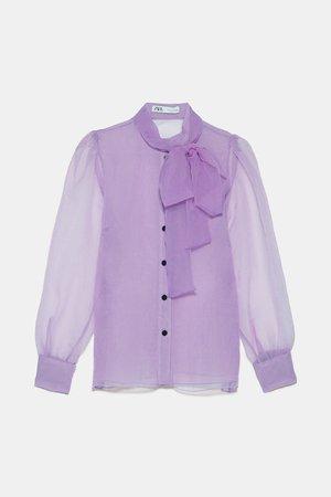 ORGANZA BLOUSE WITH BOW DETAIL-DRESS TIME-WOMAN-CORNERSHOPS   ZARA United Kingdom