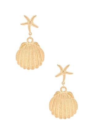X REVOLVE Seashell Drop Earrings