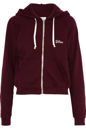 Embellished French cotton-terry hoodie | RE/DONE | Sale up to 70% off | THE OUTNET