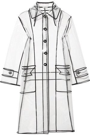 Miu Miu   Grosgrain-trimmed PVC trench coat   NET-A-PORTER.COM