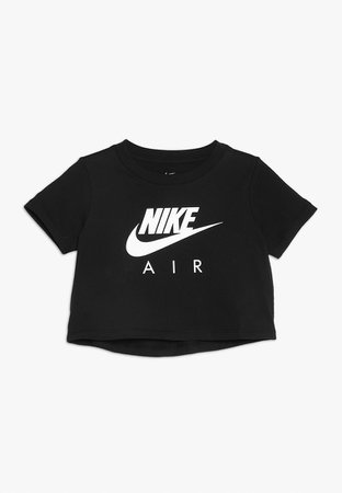 Nike Performance TEE AIR CROP - T-shirt print - black - Zalando.nl