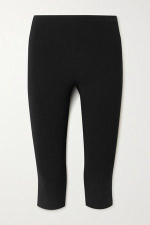 Cappo Cropped Stretch-cady Skinny Pants - Black
