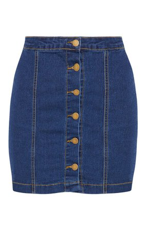 Cammie Blue Denim Mini Skirt | Mini Skirts | PrettyLittleThing USA