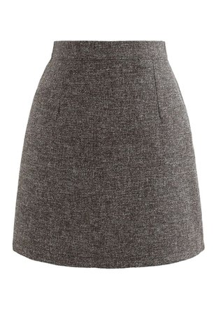 Wool-Blended Bud Mini Skirt in Army Green - Retro, Indie and Unique Fashion