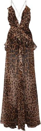 Etro Animal-Printed Silk Dress Size: 38