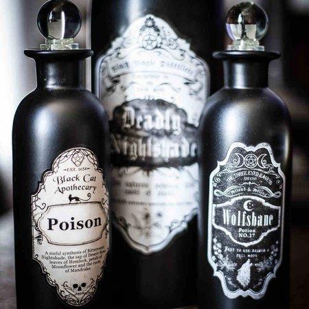 Nemesis Now Wolsbane potion bottle black