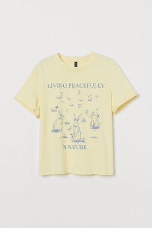 Printed T-shirt - Yellow