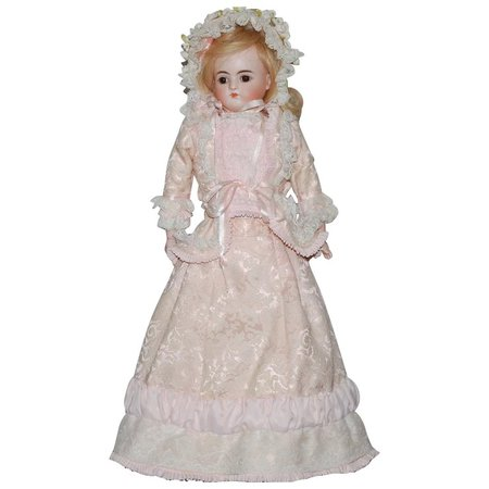 Kestner Closed Mouth Bisque Doll Kid Leather Body : Antique World USA | Ruby Lane