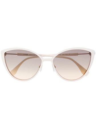 Fendi Eyewear cat-eye Logo Sunglasses - Farfetch