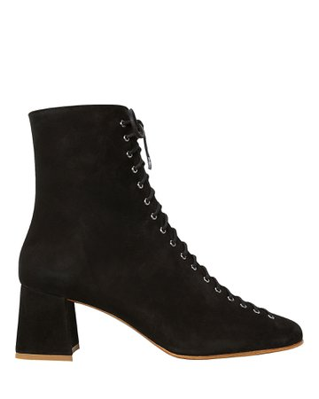 Becca Lace-Up Suede Booties