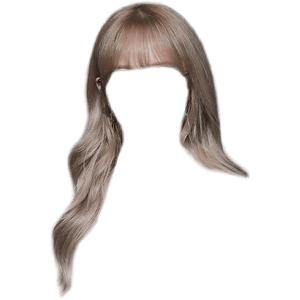 grey/gray blonde hair png bangs