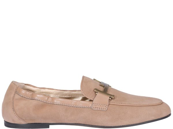 Tods Suede Leather Loafers