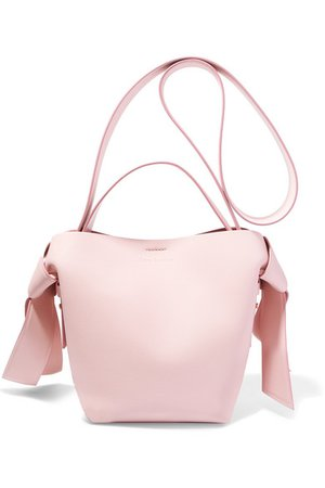 Acne Studios Musubi Mini Knotted Leather Shoulder Bag In Pastel Pink   ModeSens